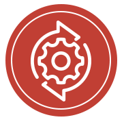 Icon of a cog surrounded by arrows