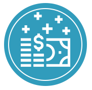 Icon of coins and paper notes